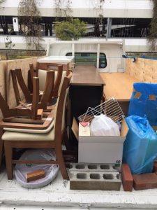 不用品処分の回収に行ってきました。西宮市