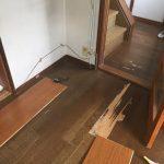 床の張り替えに行ってきました。大阪府柏原市