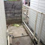 フェンス修繕を行いました。 大阪府豊中市